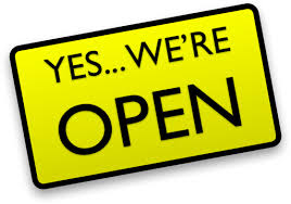 Yes...we're open
