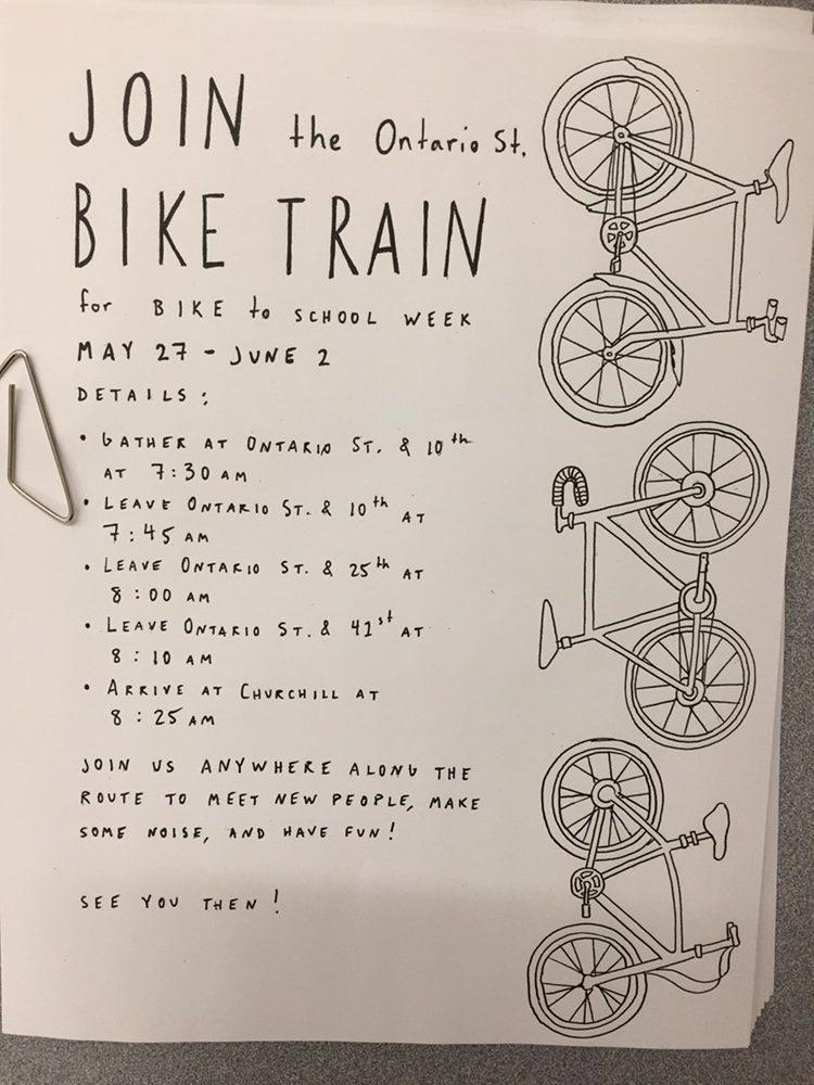 Bike train poster