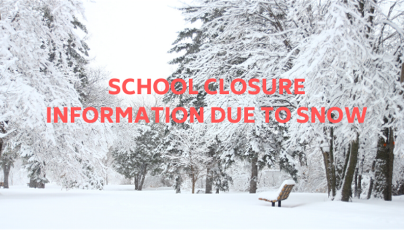 Snow Closure notice