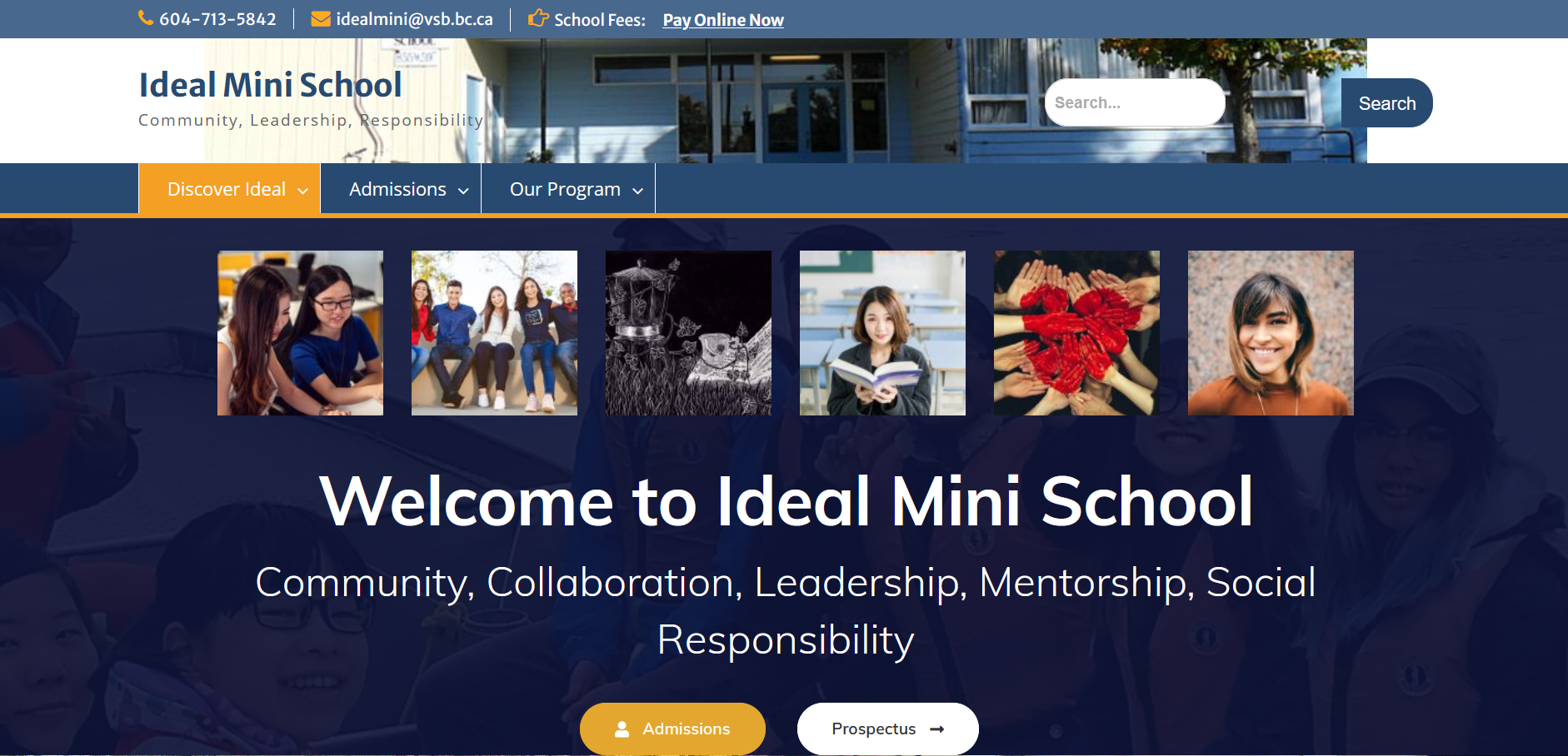 Ideal Mini website