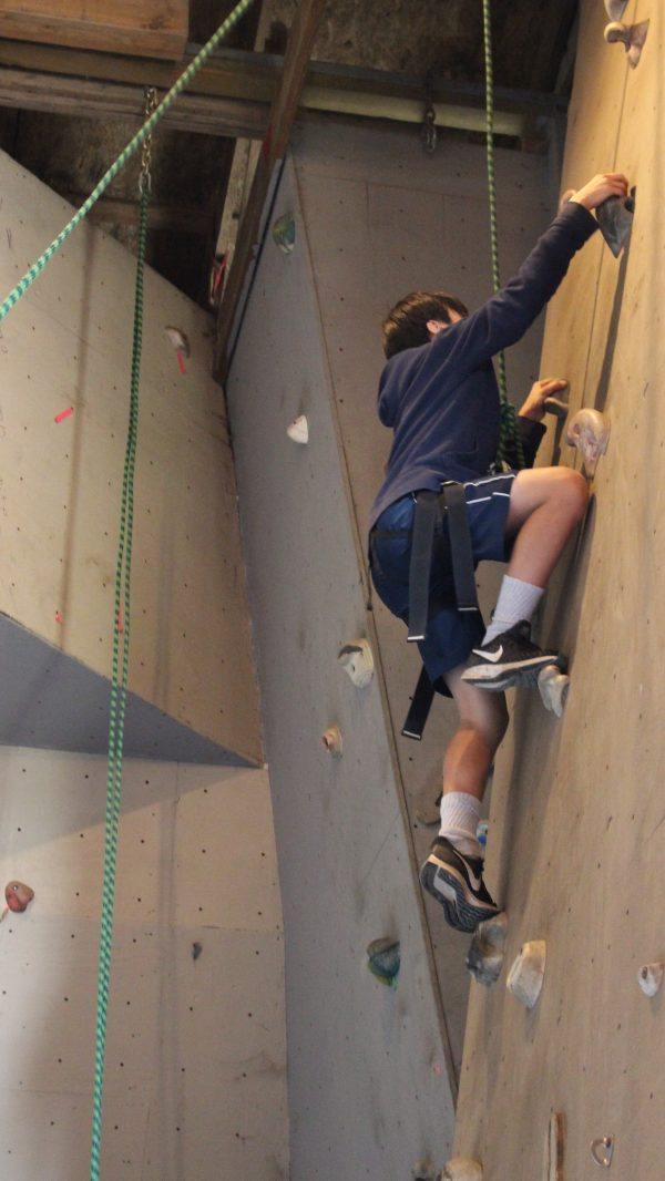 wall climbing at Camp Timberline