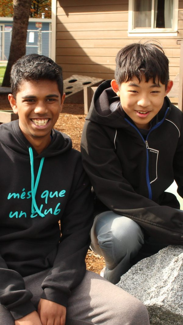 Sajid and Bill at Camp Timberline